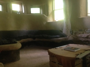 Interior of Strawbale Studio
